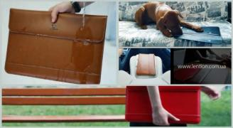 Bag cover case for laptop Apple MacBook. 100% leather