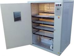 Incubator with automatic egg coup