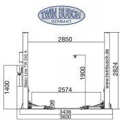 Підйомник twin busch TW242A